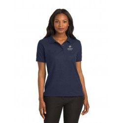 Ladies Navy Silk Touch Polo